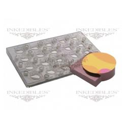 Inkedibles Large Size (11 inch x 7 inch) Magnetic Chocolate Mold (design 530-000, for use with transfer sheets)