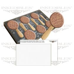 Inkedibles Large Size (11 inch x 7 inch) Magnetic Chocolate Mold (design 530-017) with 50 precut chocolate transfer sheets