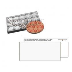 Inkedibles IE-8010 Magnetic Chocolate Mold (11 inch x 7 inch) with unprinted chocolate transfer sheets