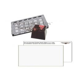 Inkedibles IE-9002 Magnetic Chocolate Mold (11 inch x 5 inch) with unprinted chocolate transfer sheets