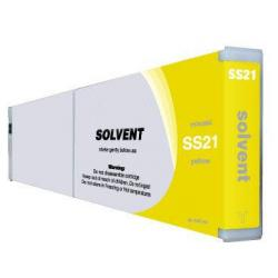 Compatible inkjet cartridge for Mimaki SS21Y - yellow