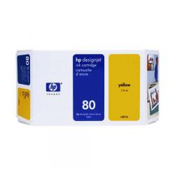 Original HP 80XL inkjet cartridge - yellow