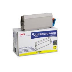 Original Okidata 41304205 toner cartridge - yellow