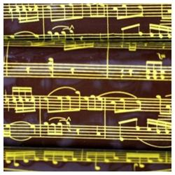 Pre-printed Inkedibles Chocolate Transfer Sheets (Golden Musical Notes) Includes 25 sheets