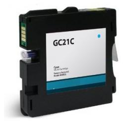 Compatible inkjet cartridge for Ricoh 405533 (GC21C) - cyan
