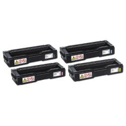 Compatible Ricoh 406475 / 406476 / 406477 / 406478 / Type SPC310HA toner cartridges - 4-pack