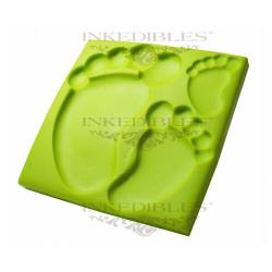 Silicone Chocolate Mold - 3D Baby Feet Shape
