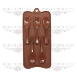 Silicone Chocolate Mold - 3D Spoon Shape