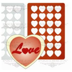Silicone Chocolate Mold - Heart Chocolate Thins
