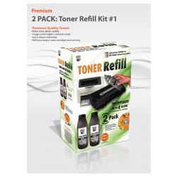 Uni-Kit Bulk Toner #1 - 2-pack