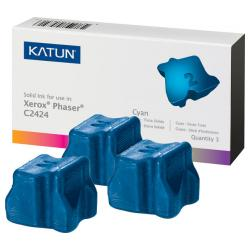 Compatible Xerox 108R00660 solid ink sticks - 3 cyan