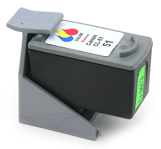 Remanufactured Canon CL-51 inkjet cartridge - color