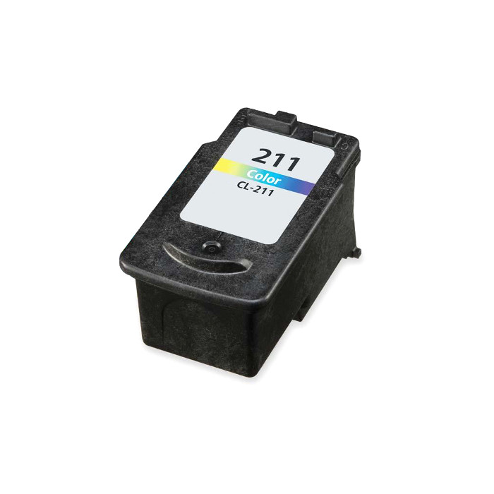 Remanufactured Canon CL-211 inkjet cartridge - color