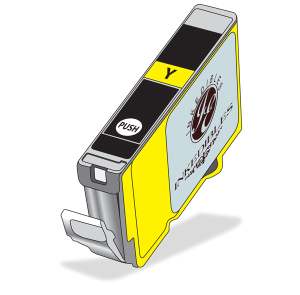 Inkedibles Edible ink cartridge for Canon CLI-8Y - yellow