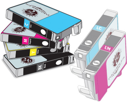 Inkedibles Edible ink Multi-Pack for Epson T079 - 6-pack - black, cyan, magenta, yellow, light cyan, light magenta