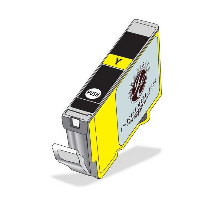 Inkedibles Edible Ink Refillable Cartridge for Epson T252XL420 (Yellow)