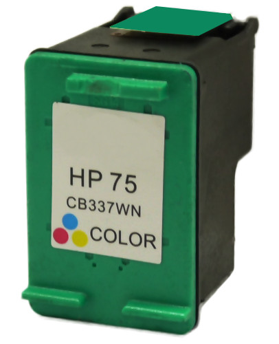 Remanufactured HP CB337WN (75) inkjet cartridge - color